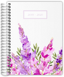 Watercolor Lilac Monthly Planner