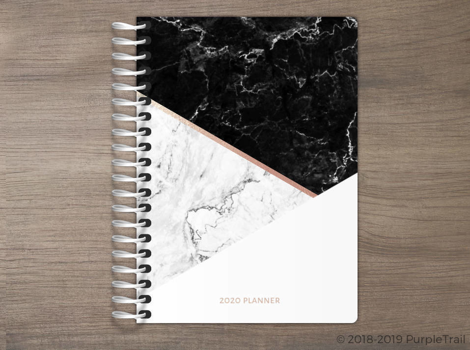 Shades of Marble Tiny Planner