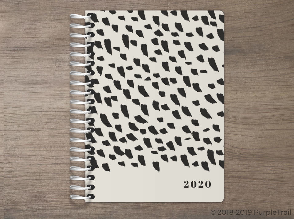 Modern Brush Pattern Tiny Planner