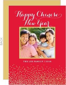 chinese new year photo card