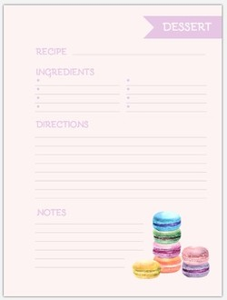 Cute Macarons Recipe Inside Page