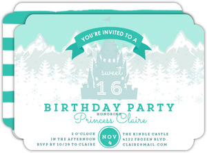 Winter Princess Sweet Sixteen Birthday Invitation
