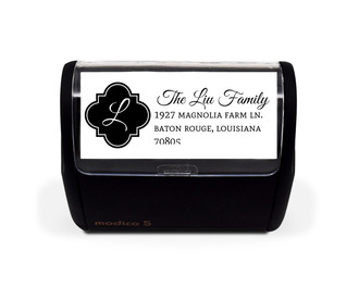 Quatrefoil Monogram Address Stamp