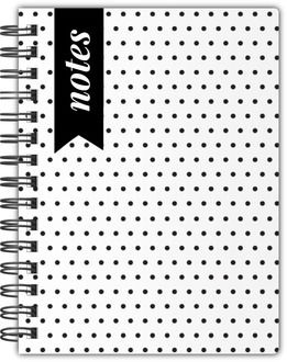 Simple Black White Polka Dots Notebook