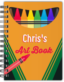 Colorful Kid Art Notebook