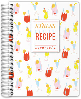 Colorful Fun Drinks Pattern Recipe Journal
