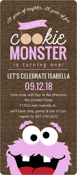 Cookie monster first birthday invitation first birthday invitations cookie monster first birthday invitation filmwisefo
