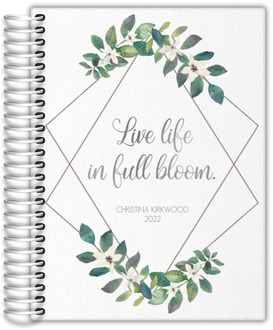 Diamond Frame Greenery Daily Planner
