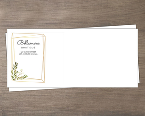 Faux Gold Geometric Greenery Envelope