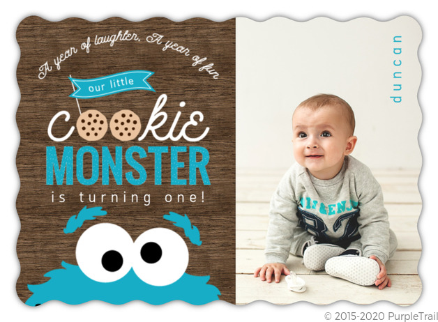 First birthday invitations 1st birthday invites cookie monster photo first birthday invitation filmwisefo Images