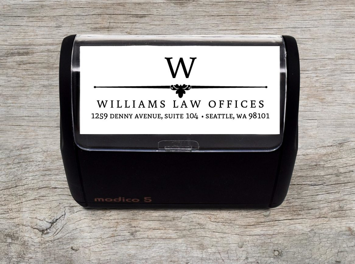 custom business initial address stamp self inking personalized stamps
