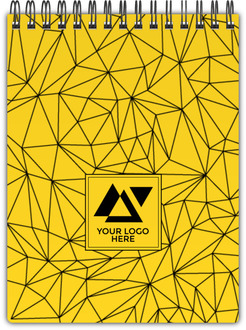 Bold Geometric Yellow Business Notebook