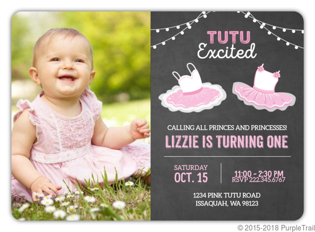 Cute ballerina first birthday invitation first birthday invitations cute ballerina first birthday invitation filmwisefo