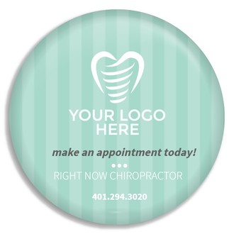 Simple Mint Stripe Business Button
