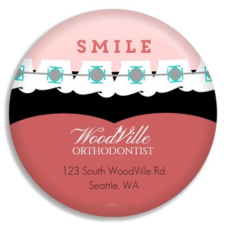 Smile Orthodontist Custom Business Button