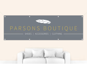 Sleek White Feather Custom Business Banner