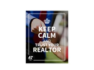Trust Your Realtor Custom Business Poster Print
