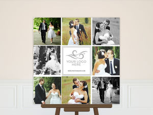Photo Grid Collage Custom Business Poster Print
