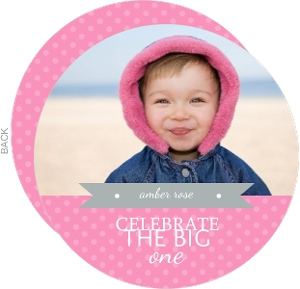 Pink Polka Dots 1St Birthday Invitation