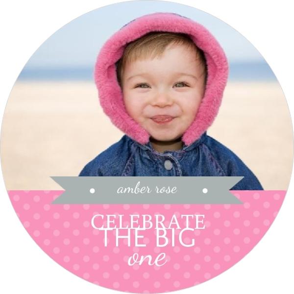 Pink Polka Dots 1St Birthday Invitation