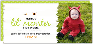 Mummy Monster Halloween Birthday Party Invitation