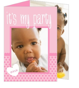First Birthday Pink Trifold Party Invitation