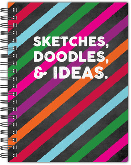 Colorful Sketches, Doodles and Ideas Notebook