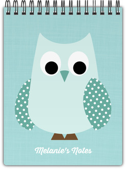 Patterned Owl Notebook