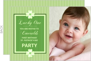 First Birthday St Patrick S Day Party Invite