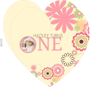 Colorful Flowers 1St Birthday Invitation - 2580