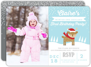 Little Deer Onederland First Birthday Invitation