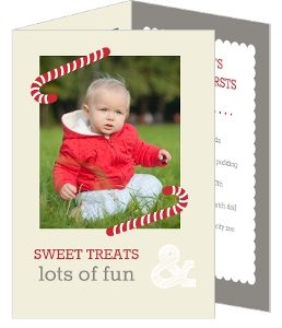 Red And White Sweet Treats 1St Birthday Invitation