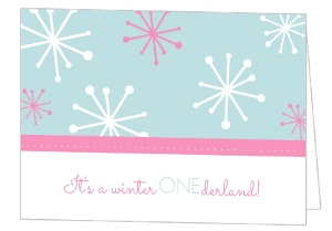 Snowflake Banner Holiday Birthday Invitation - 2566