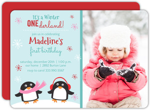 Winter One-Derland First Birthday Invite