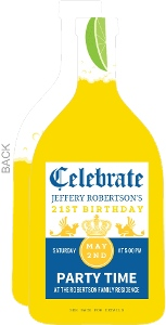 Beer Bottle 21st Birthday Party Invitation