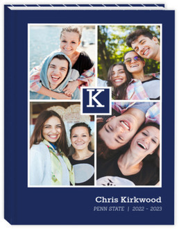Monogram Photo Collage Student Sewn Planner