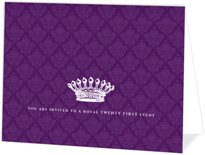 Royal Purple 21st Birthday Invitation