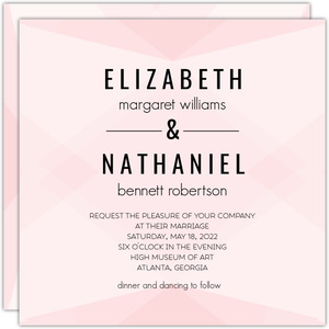 Modern Blush Pattern Wedding Invitation