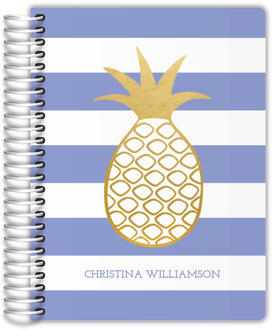 Faux Gold Pineapple Stripe Journal