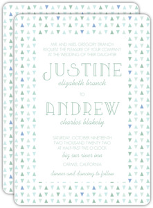 Sea Glass Pattern Wedding Invitation