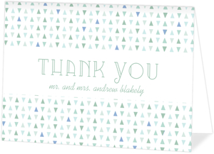 Sea Glass Pattern Wedding Thank You Card
