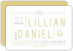 Simple Modern Statement Wedding Invitation