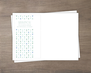 Sea Glass Pattern Wedding Custom Envelope