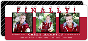 Regal Red Graduation Save The Date Announcement