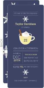 Spiked Eggnog Holiday 21st Birthday Invitation
