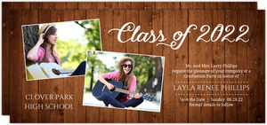 Rustic Elegance Graduation Save The Date Announcement