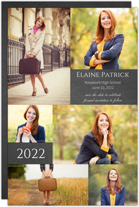 Chalkboard Photos Graduation Save The Date Announcement