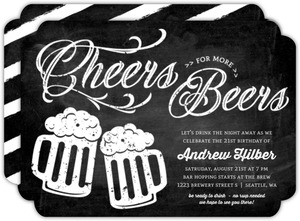 Chalkboard Cheers Beers 21st Birthday Invitation