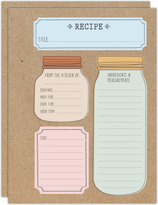 Rustic Mason Jar Recipe Pages