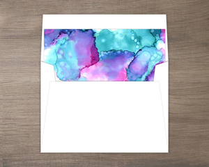 Modern Watercolor Paint Envelope Liner